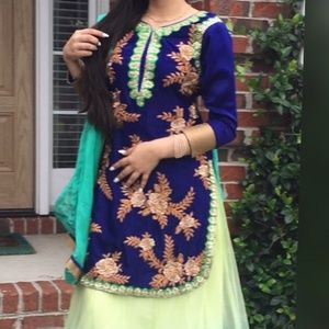 Indian salwar kameez punjabi suit dress lengha